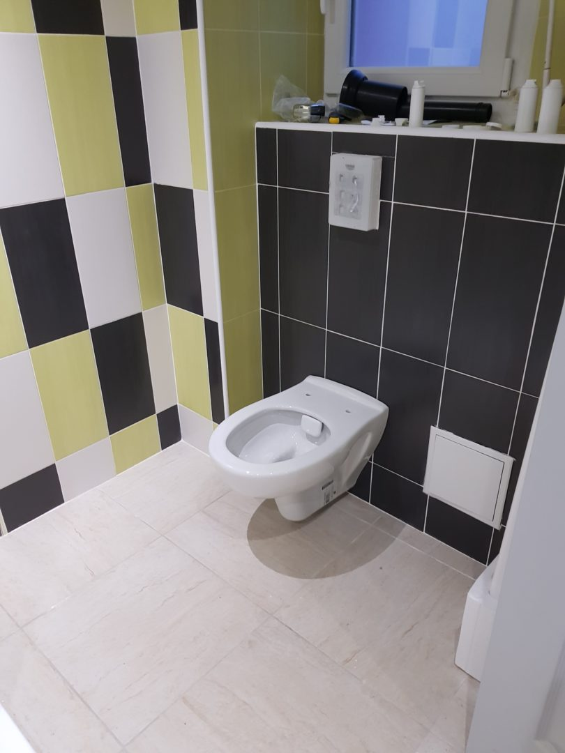 Argol r alisation d 39 une salle de bain avec douche - Realisation d une douche a l italienne ...