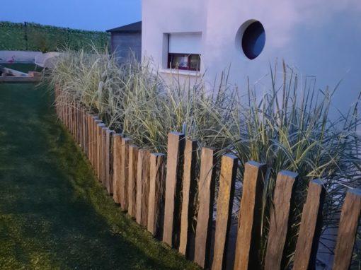 création clôture schiste saint-nic