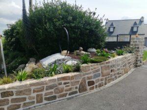 création jardin muret argol (1)