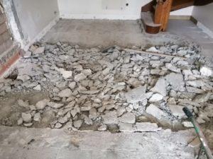 démolition dalle maçonnerie saint-nic