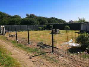 pose clôture semi-rigide saint-nic